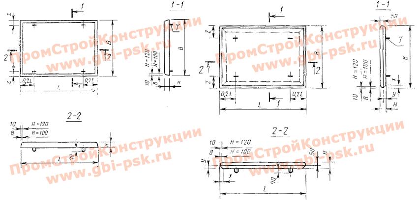 Плиты железобетонные для покрытия трамвайных путей 1П, 2П, 3П (ГОСТ 19231-83)