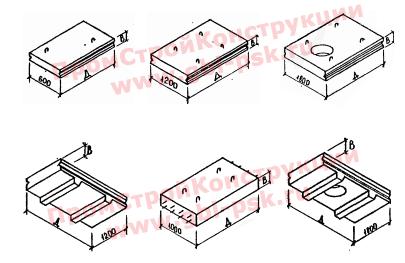 Плиты перекрытия каналов и камер (ВП, ВПН). Альбом РК 2303-86