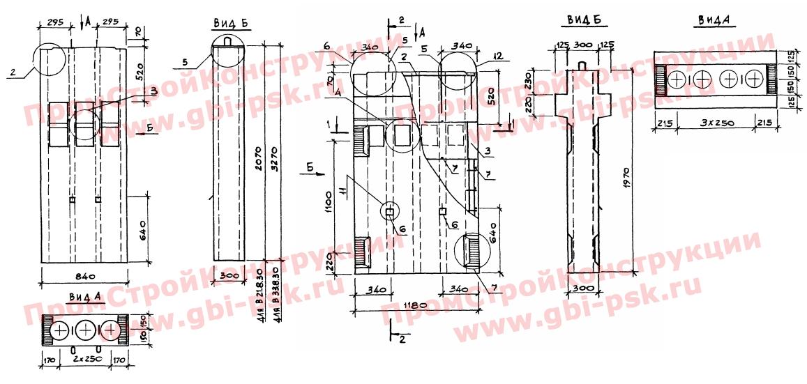 Блоки вентиляционные (сборные, монолитные)