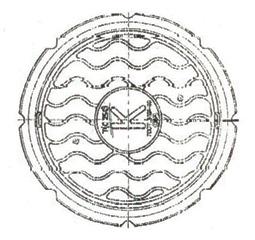 Люки чугунные для колодцев Т(С250)-К.1-60, Т(С250)-К.2-60