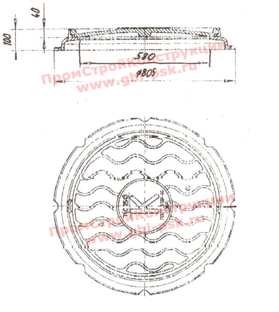 Чугунные люки для колодцев Т(С250)-К.1-60