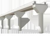Изделия для строительства мостов и путепроводов автомобильных и железных дорог