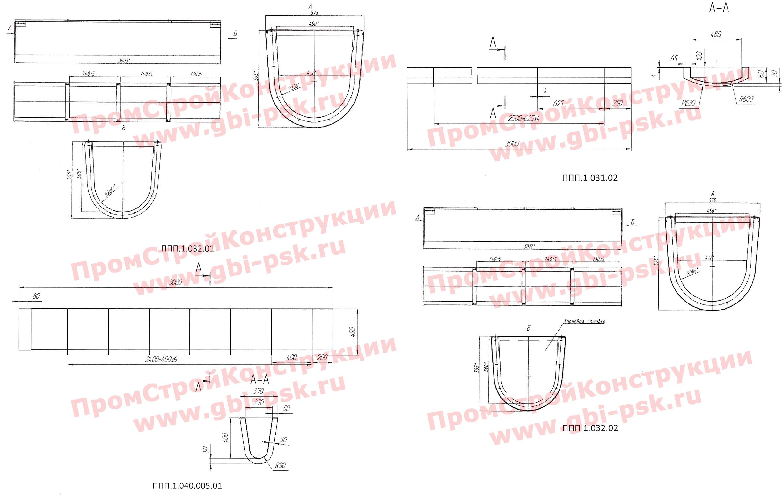 Лотки водоотводные подвесные полимерные для эстакад и путепроводов