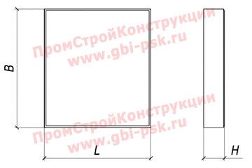 Плиты бетонные вибропрессованные для покрытия трамвайных путей ПД (ТУ 5746-003-23078401-08)