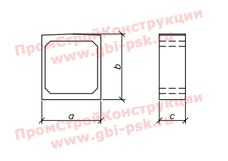 Звенья ЗП прямоугольные — Шифр 2119РЧ Выпуск 1-1