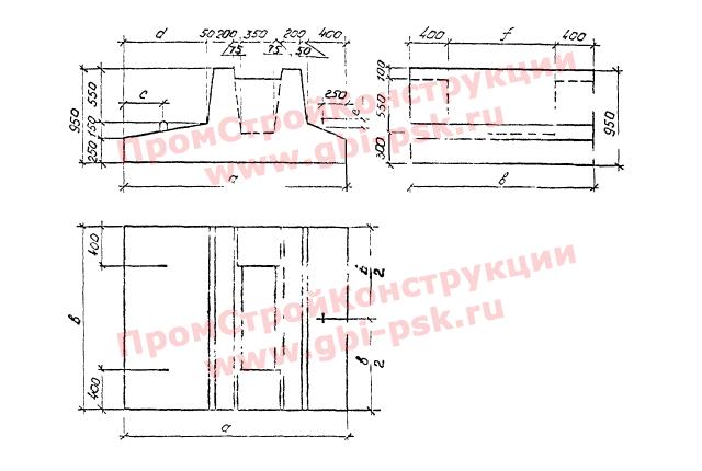 Блоки фундаментов — Серия 3.501.1-179.94