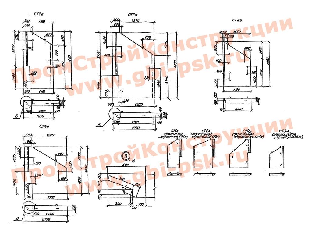 Откосные стенки — Серия 3.501.1-177.93