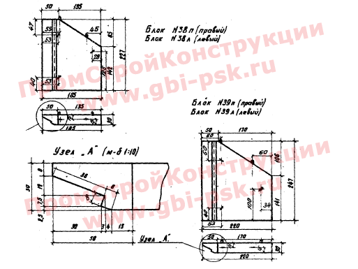 Откосные стенки — Серия 3.501-59