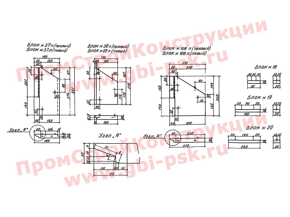 Откосные стенки — Серия 3.501-104
