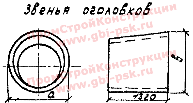 Звенья оголовка — Серия 3.501.1-144, шифр 1484