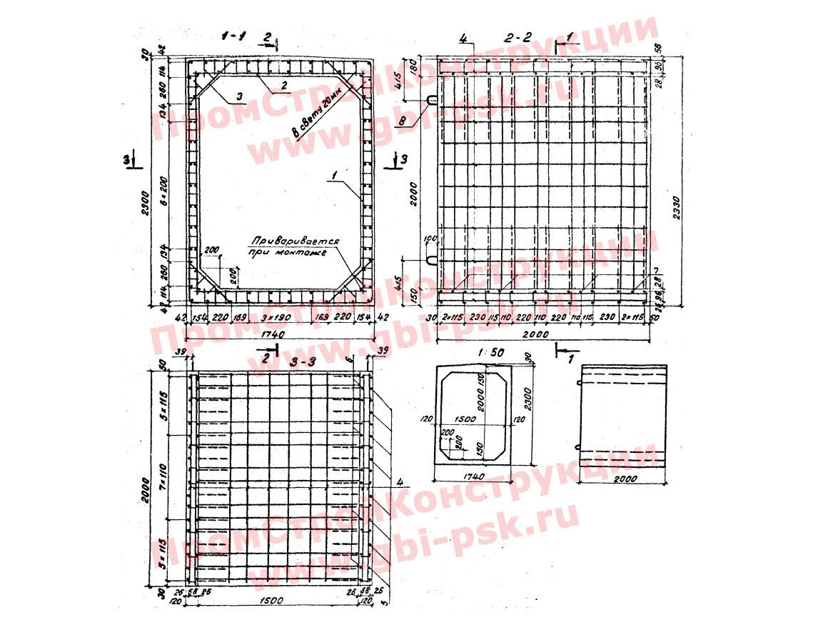 Звенья прямоугольные — Серия 3.501.1-126