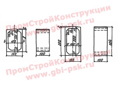Звенья прямоугольные — Серия 3.501-104