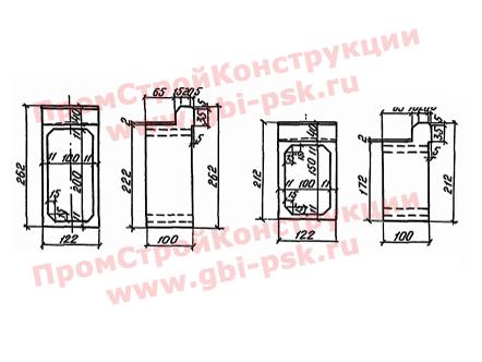 Звенья оголовков прямоугольные — Серия 3.501-104
