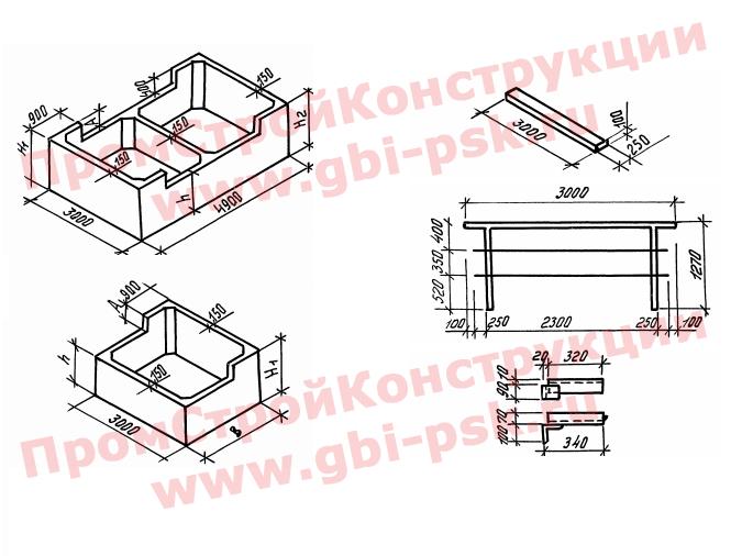 Конструкции для удлинения устоев железнодорожных мостов. Серия 3.501.1-167 выпуск 1