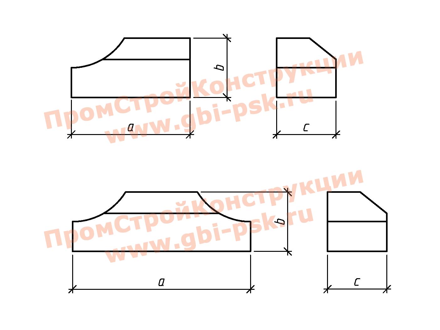 Лекальные блоки — Серия 3.501.3-185.03
