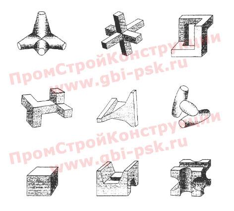 Тетраподы, гексабиты, конструкции для берегозащитных и оградительных сооружений