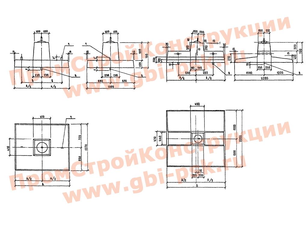 Малозаглубленные фундаменты для стальных опор ВЛ 35-500 кВ. Серия 3.407.1-159 выпуск 1