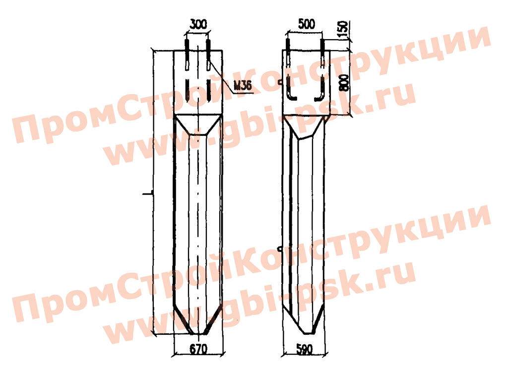 Фундаменты трёхлучевые с анкерным креплением консольных опор контактной сети ТСА. Проект 4182И