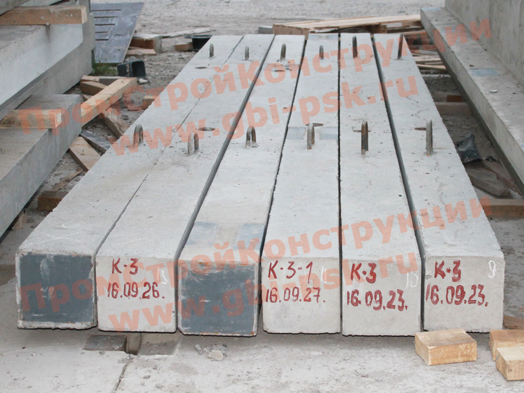 Производство железобетонных колонн К3 серии 1.020-1/83