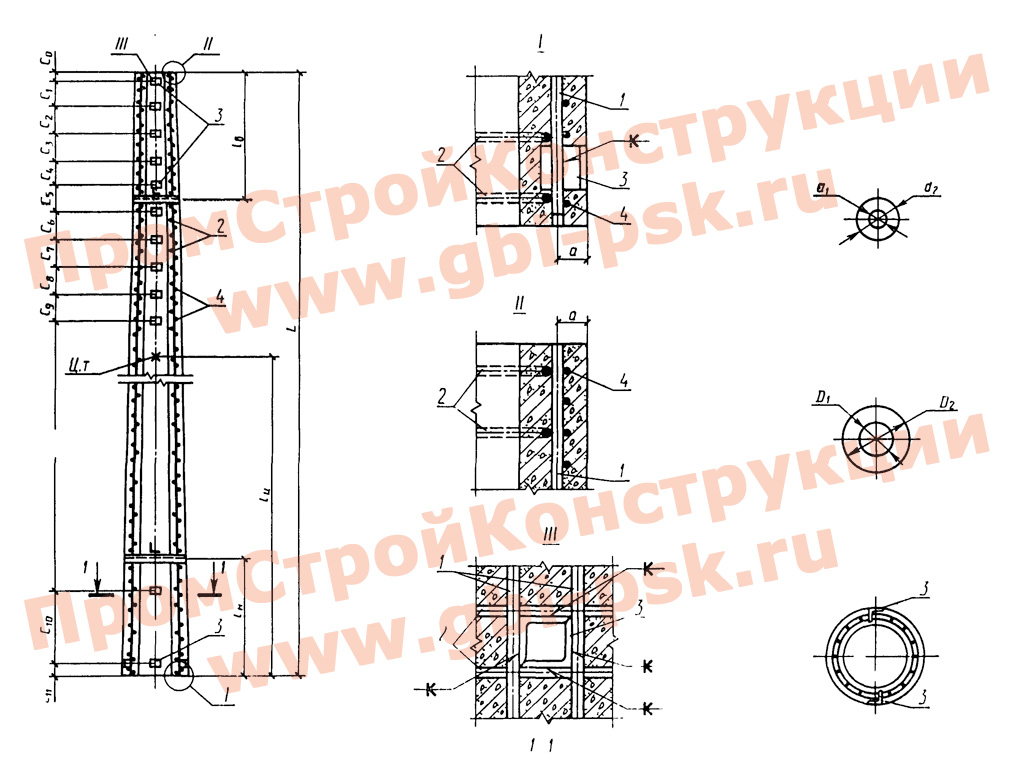 Стойки конические железобетонные центрифугированные для опор высоковольтных линий электропередачи. ГОСТ 22687.1-85