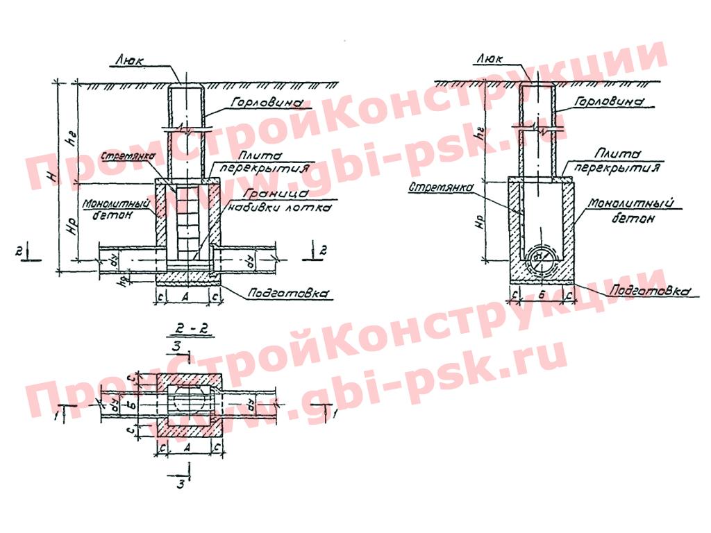 Плиты перекрытия для прямоугольных колодцев. ТП 902-09-46.88