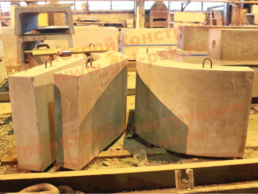 Производство блоков упора и плит для укрепления русел серии 3.501.1-156 выпуск 1