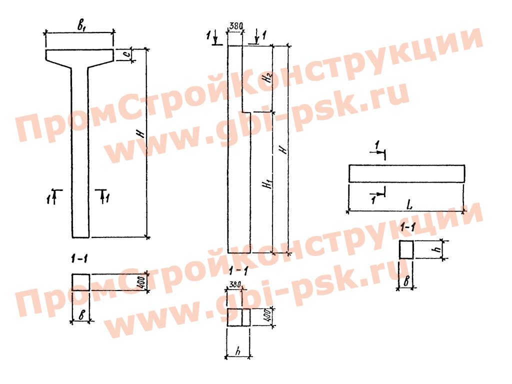 Колонны железобетонные. Серия 3.015-1/92 выпуск II-1
