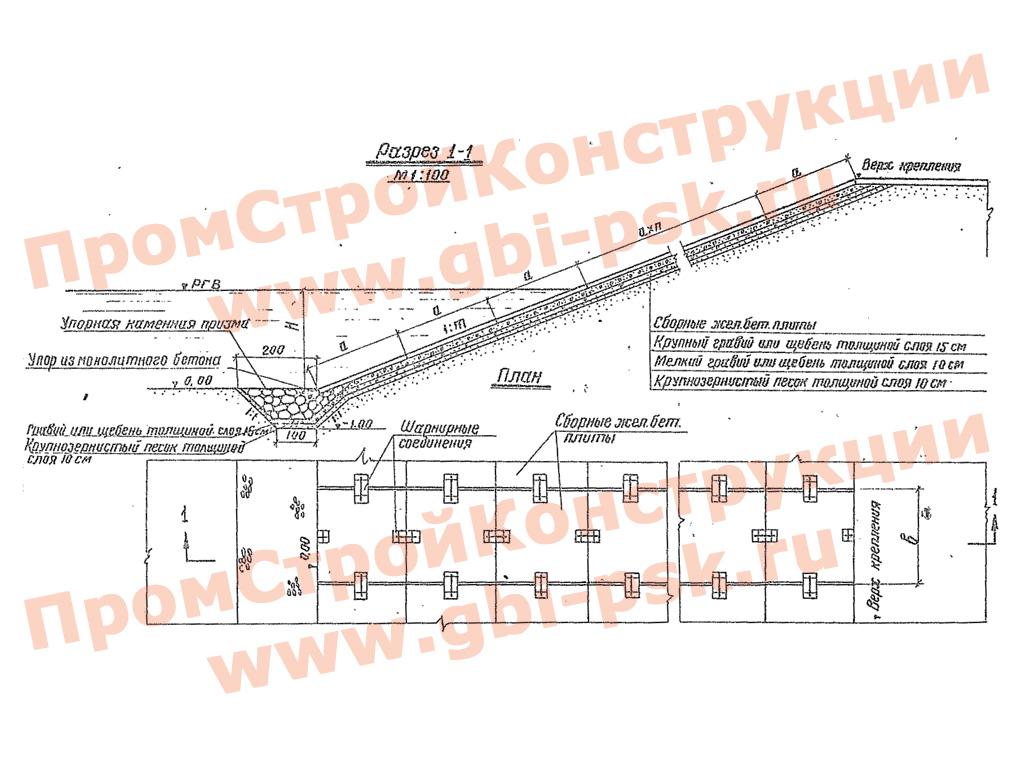 Конструкции креплений откосов земляного полотна железных и автомобильных дорог. Альбом №750