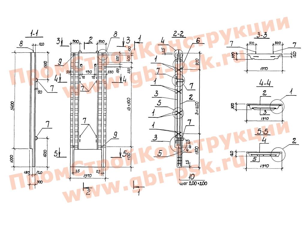 Панели стеновые для способа «стена в грунте». Серия 3.902.1-12 выпуск 2