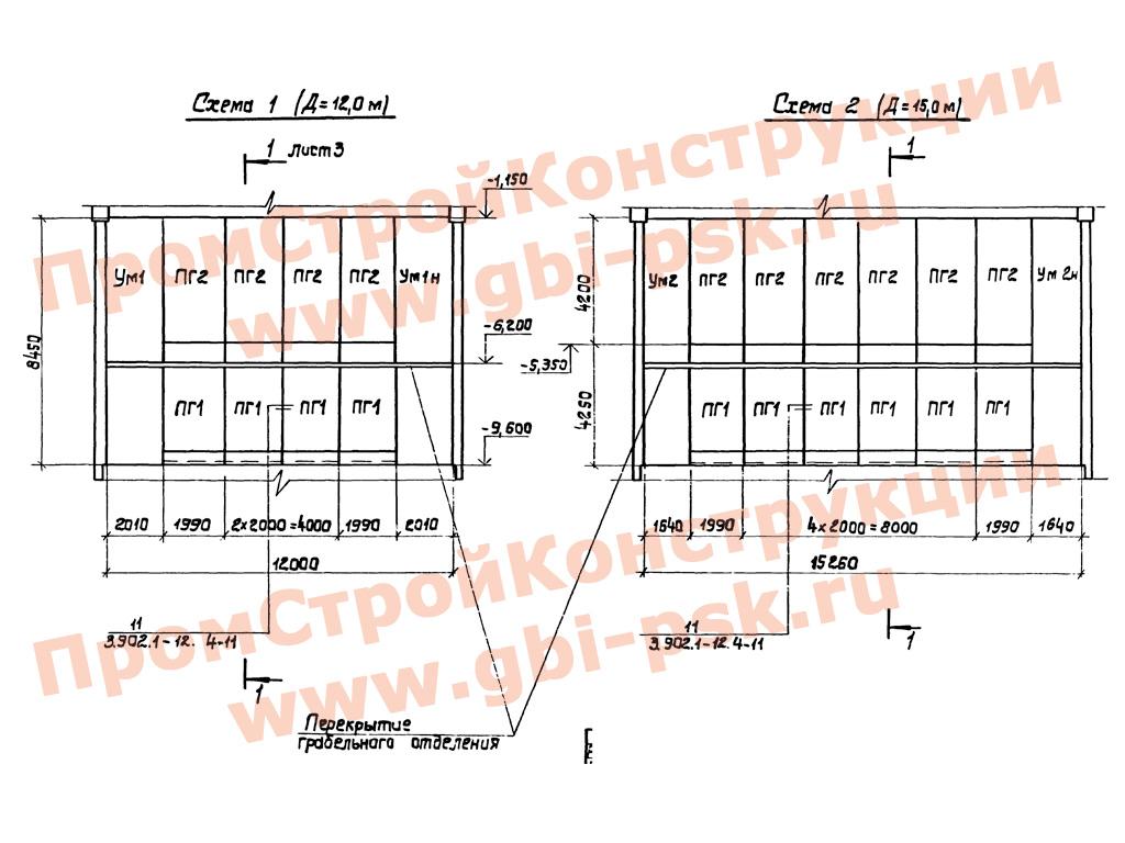 Железобетонные панели, перегородки для подземных частей канализационных насосных станций. Серия 3.902.1-12