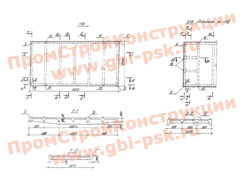 Панели стеновые плоские для подземных частей насосных станций. Серия 3.900.1-10, выпуск 4-1