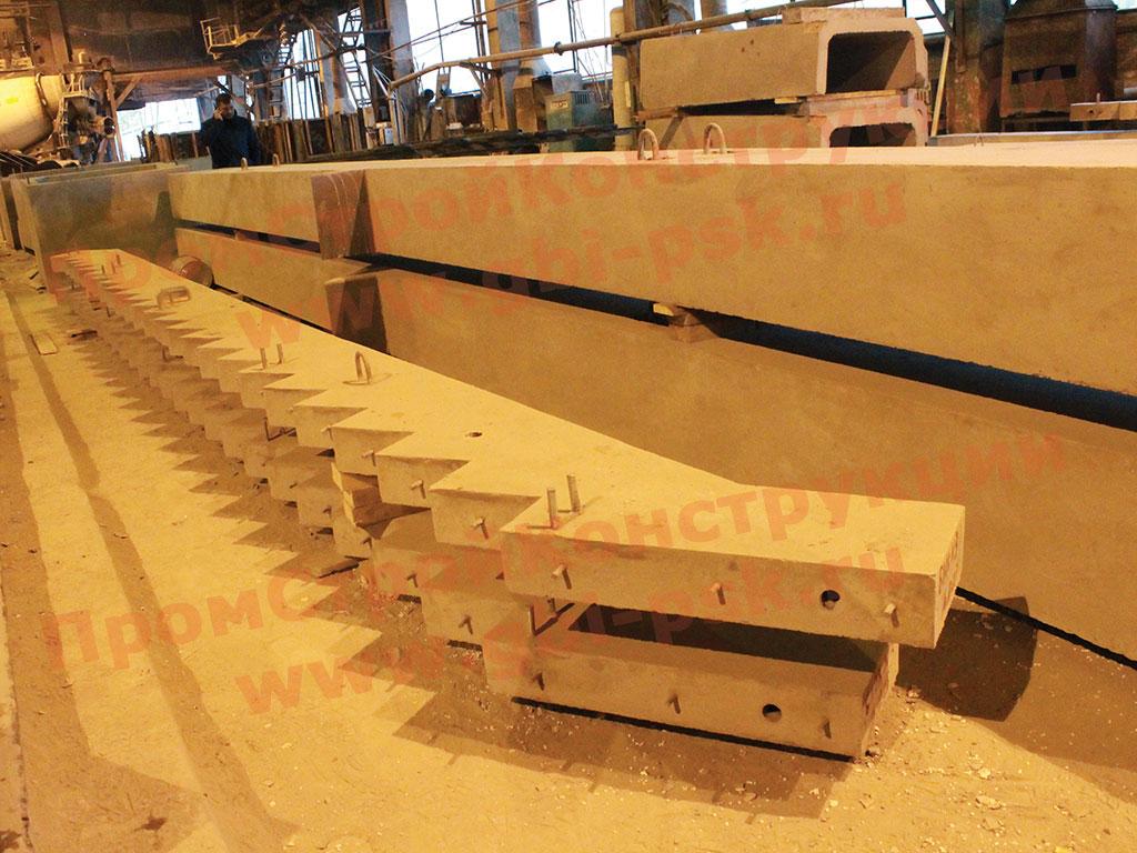 Производстводим бетонные косоуры даже зимой!
