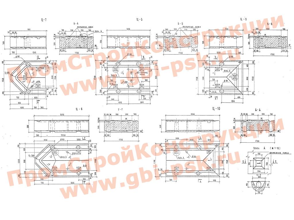 Блоки стенок, цокольной части. Серия 3.503-23 выпуск 7
