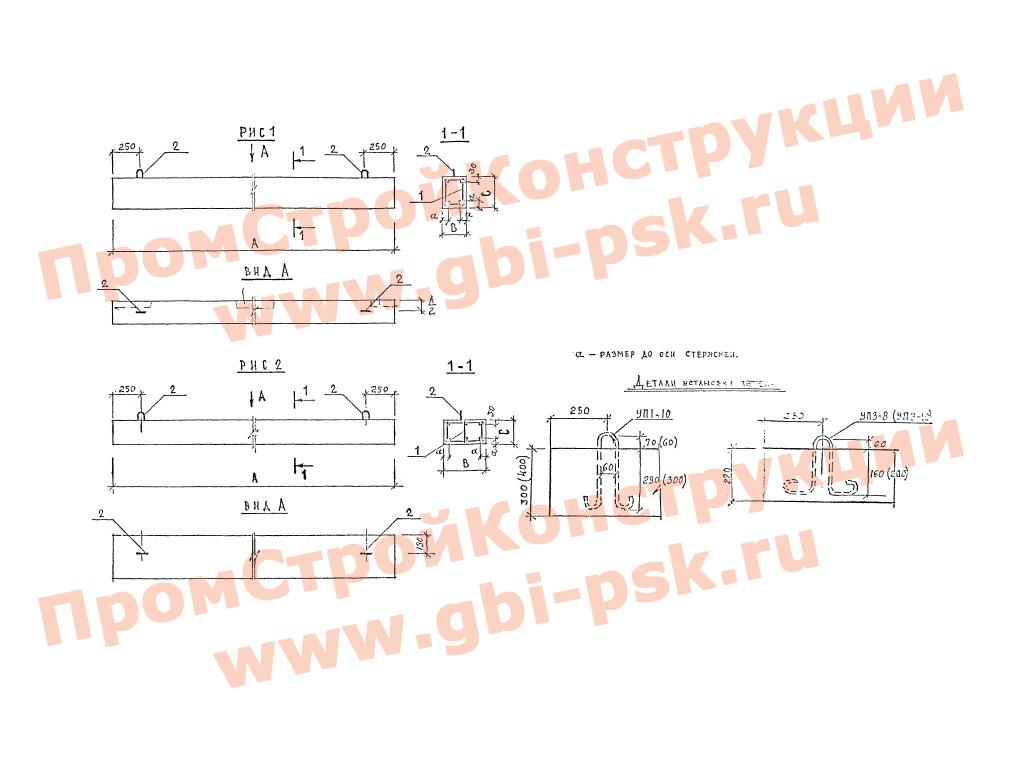 Балки железобетонные для кирпичных жилых и общественных зданий. Серия 1.126.1 КЛ-1