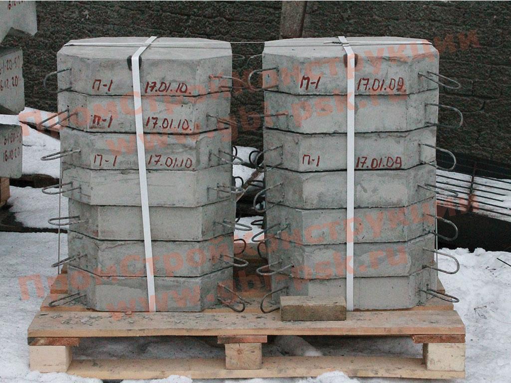 Производство плит П-1, блоков укрепления откосов и насыпей серии 3.501.1-156