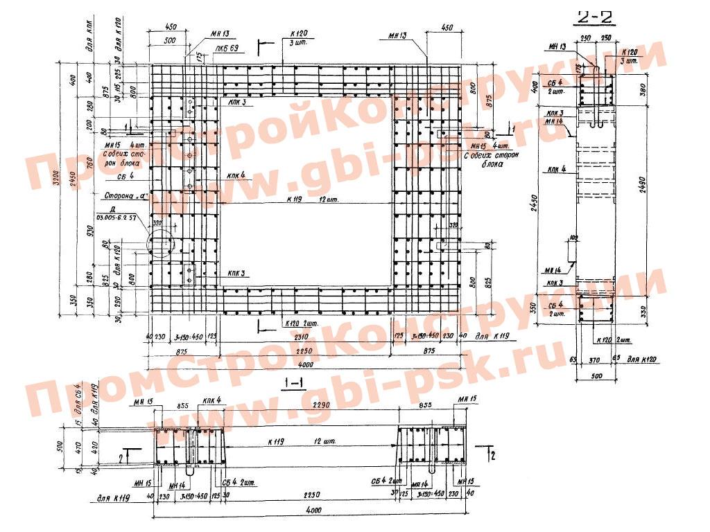 Бомбоубежища и элементы промышленных убежищ II-IV классов и заглубленных сооружений