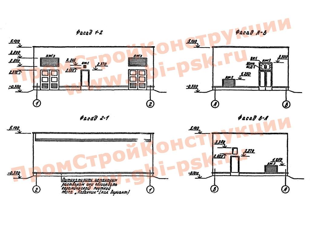 Изделия для распределительных пунктов 10(6) кВ, совмещенных с трансформаторными подстанциями 10(6)/0.4 кВ для городских сетей. Тип IIРПК-2ТМ1. ТП 407-3-444.87