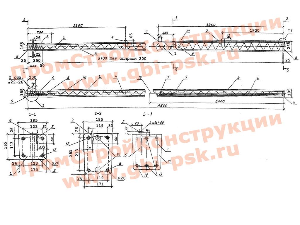 Железобетонные стойки СВ для опор ВЛ 0.4 кв. Шифр №20.0139