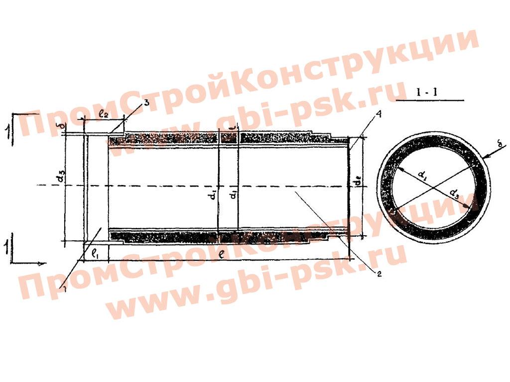 Железобетонные трубы с внутренней полиэтиленовой облочкой. ТР 162-04