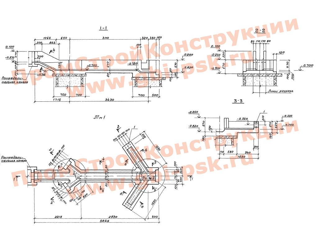 Отстойники канализационные вертикальные вторичные из сборного железобетона диаметром 4.5 м. ТП 902-2-356