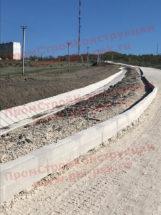 Бордюры БР ЖБИ, плиты и блоки водоотводных лотков 3.503.1-66 на объектах в Крыму
