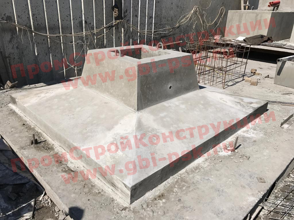 Производство крупногабаритных фундаментов стоек эстакад серии 3.503.9-80