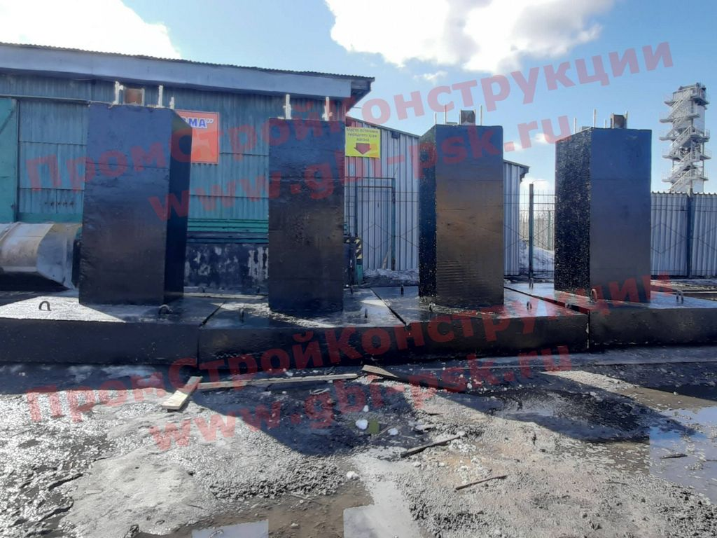 Фундаменты ФМ — масштабные отгрузки на заводе ЖБИ в Мурманске