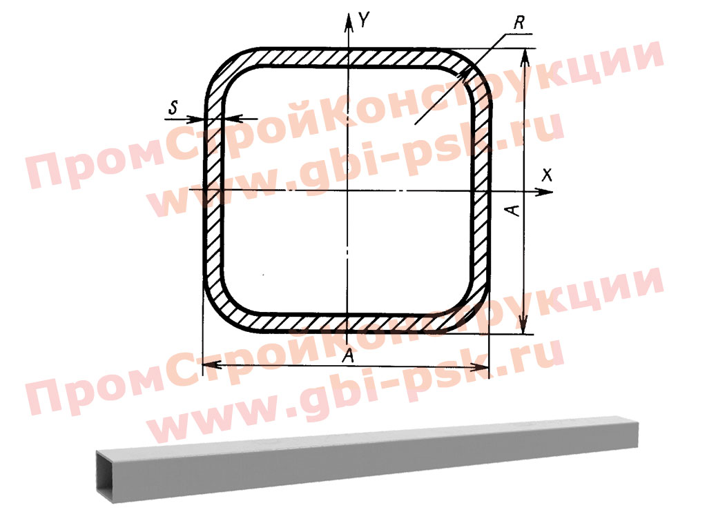 Композитная труба квадратная
