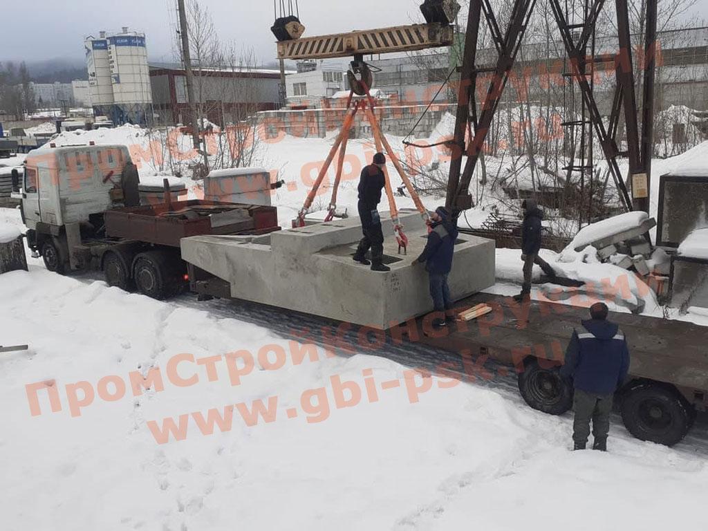 Завершено производство дополнительной партии ЖБИ блоков насадок для устоев 2НУ 16 опор железнодорожных мостов серии 3.501.1-150