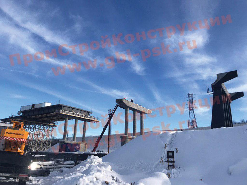 Производство и поставки стоек опор, балок пролетных строений, контурных блоков и других ЖБИ для железнодорожных мостов