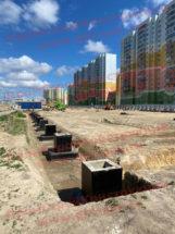 Производство и поставка ЖБИ фундаментов и колонн для строительства ТК в Петербурге на проспекте Маршака